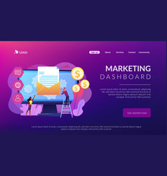 Marketing automation system concept landing page vector