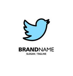 Network social twitter business logo template vector