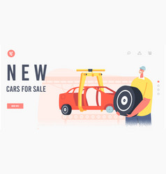 New cars for sale landing page template engineer vector