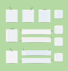Notebook paper vector image
