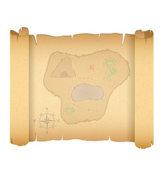 pirate treasure map 01 vector image