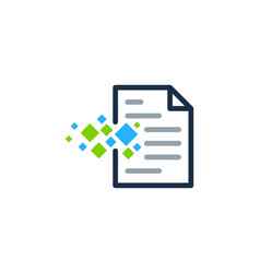 pixel document logo icon design vector image