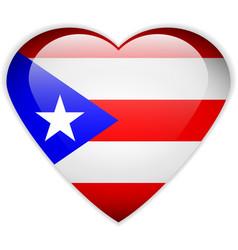 Puerto Rico flag button vector image