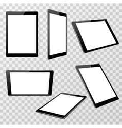 Realistic black tablet template isolated on vector