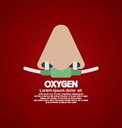 Respiratory oxygen nasal catheter vector