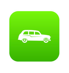 retro car icon digital green vector image