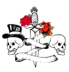 Retro tattoo vector image
