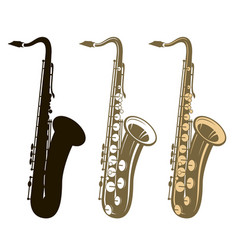 Saxophone instrument set vector