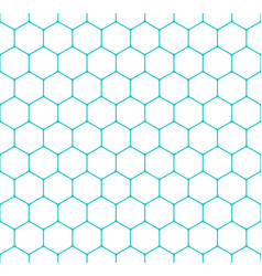 Seamless pattern honeycomb hexagon shapes vector