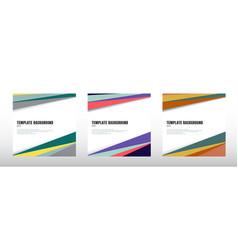 set abstract template header and footers vector image