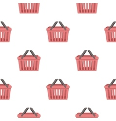 Shopping busket icon in cartoon style isolated on vector