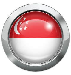 Singapore flag metal button vector