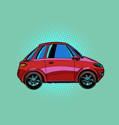 small red city car vector image