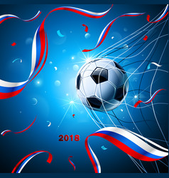 Soccer ball with confetti vector