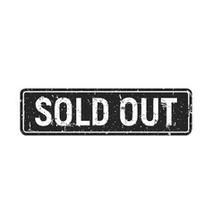 sold out black grunge stamp rectangle isolated vector image
