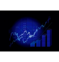 Stock market graphs vector