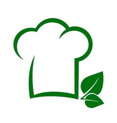 vegetarian icon with chef hat vector image