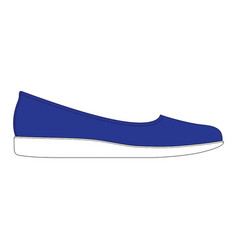 women shoes in side view blue women shoes vector image