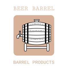 wooden barrel for beer water and beverages flat vector image