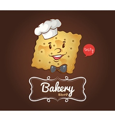 Cracker with happy face vector
