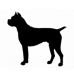 german boxer dog silhouette vector image