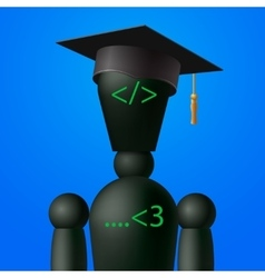 Learning web design and coding programming school vector image