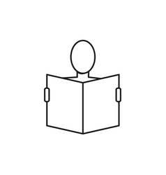 reading man vector image