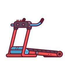 running treadmill icon vector image