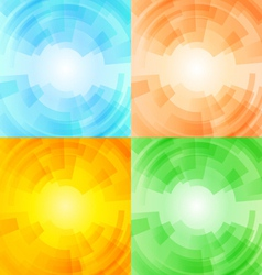 Set of season backgrounds vector image vector image