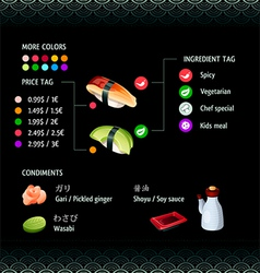 Sushi Infographics vector image vector image