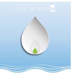water drop with paper art vector image vector image
