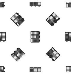 battery indicators pattern seamless black vector image