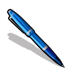 Blue ballpoint pen on a white background vector image vector image