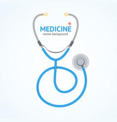 flat stethoscope medicine healthcare concept vector image vector image