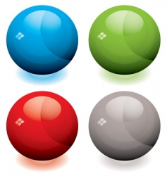 glass marble buttons vector image vector image