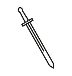 one sword icon vector image