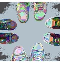 Sneakerscolor vector image