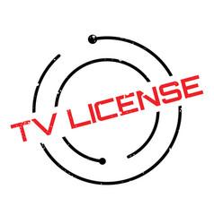 tv license rubber stamp vector image