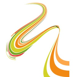 abstract bent lines vector image vector image