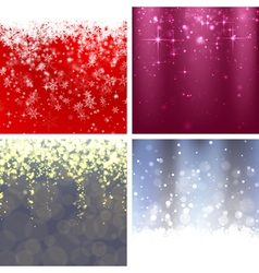 Christmas background set 2 vector image