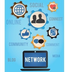 concept of network vector image