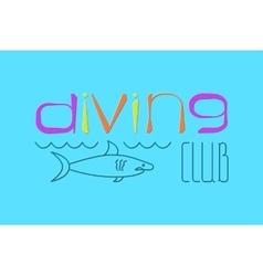 logo Scuba Diving vector image vector image