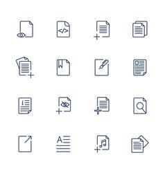 paper icon document icon eps10 vector image