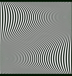 abstract black and white background of wavy lines vector image vector image