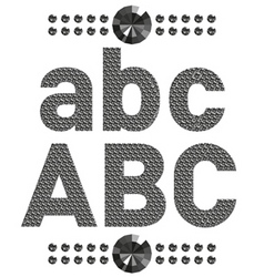 diamond letters and numbers big and small vector image