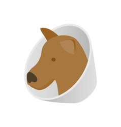 Dog in neck brace icon isometric 3d style vector image vector image