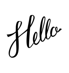 hello hand lettering vector image vector image