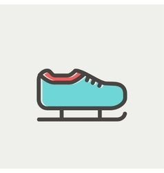 Ice skate thin line icon vector image vector image