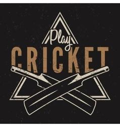 Retro cricket emblem design Cricket logo icon vector image vector image