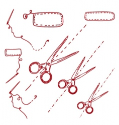 scissors needles vector image